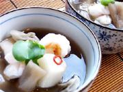 芋がらと里芋のタイ風スープ